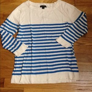 Blue and white light weight sweater
